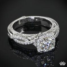 Verragio 4 Prong Cushion Halo Diamond Engagement Ring | 38101