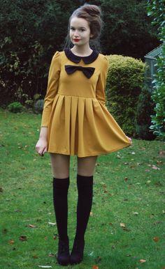 Girly Mustard Dress.