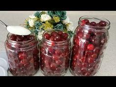 Păstrați cireșele intacte timp de 2 ani cu această metodă! - YouTube Turkish Delight, Mason Jars, Cherry, Healthy Eating, Food, Youtube, Recipes, Cooking, Jelly