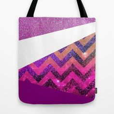 Galaxy 54 Tote Bag  #glitter #colorblock #chevron #white #purple #ombre #gold #iphone #case #cover #iphone5c #5s #5c #4s #iphone4 #iphone3g #3gs