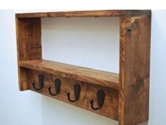 Your place to buy and sell all things handmade Rustic Coat Rack, Entryway Coat Rack and Shelf, Two Tier Foyer Shelf Entryway Coat Rack, Coat Rack Shelf, Coat Hooks, Coat Hanger, Hanger Hooks, Wall Hanger, Diy Pallet Projects, Wood Projects, Woodworking Projects