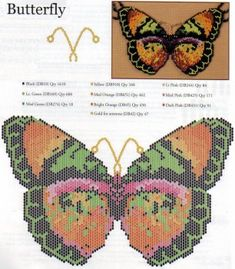 Peyote stitch diagram, but with some other stitches introduced into the matrix. There are also diagrams for a lion and an elephant.