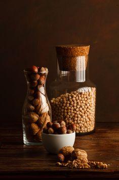 Nuts by Luiz Laercio Pecan Recipes, Dog Food Recipes, Dark Food Photography, Autumn Photography, Phone Photography, Photography Ideas, Food Art For Kids, Fruits Images, Food Lab