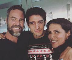 Teen Wolf: J.R. Bourne, Tyler Posey and Melissa Ponzio (photo via J.R.'s Instagram)