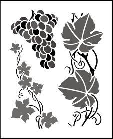 Budget Grapevine stencils, stensils and stencles
