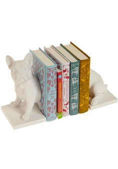 French Bulldog bookends! I want!!!