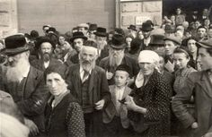 Loss of a community. Jewish residents being deported from Przemysl, Poland.