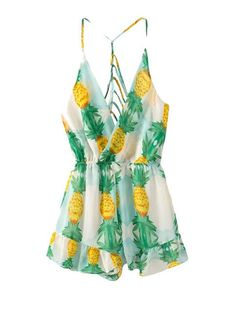 jumpsuit#pineapple made in playsuit# backless <3