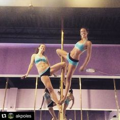 Doubles fun! #polewear #theoriginalpolewear  #Repost @akpoles  More doubles pole play at @elitepoleandfitness with @romangoddess  of course we never plan to match it just happens! #badkitty #badkittypride @badkittyusa by badkittyusa