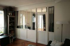 verrière intérieur bois, séparation de la chambre.