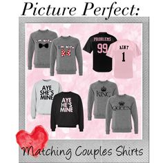 Matching Couples Shirts by customizedgirl on Polyvore featuring Polaroid, couples, valentinesday, matchingcouples and CustomizedGirl