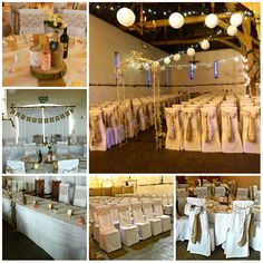 Stunning Hessian  Lace wedding setup @ Ufton Court.    www.blueorchid-events.com