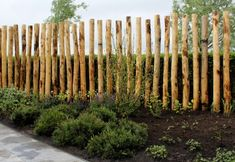 palenwand - Simple minimal log fencing - upright vertical logs used as fencing Garden Fencing, Garden Art, Modern Landscaping, Backyard Landscaping, Outdoor Plants, Outdoor Gardens, Fence Design, Garden Design, Landscape Architecture