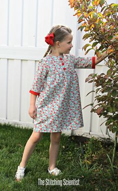 As much as I am dreading it, we are starting to say goodbye to summer. With my 3 year old still refusing to wear anything but dresses and skirts, I decided to draft this 3/4 sleeve empire waist dress pattern so she can still wear dresses in the colder months ahead. The pattern is a …