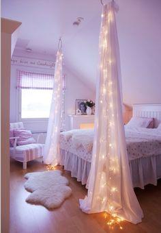 Great idea for a nightlight in a girls room