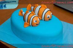 """МК лепка """"Немо"""" -gumpaste Nemo tutorial - Мастер-классы по украшению тортов Cake Decorating Tutorials (How To's) Tortas Paso a Paso"""