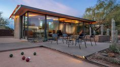 bocce court + patio in Phoenix