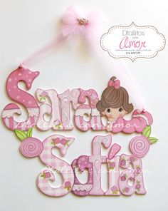 Foam Crafts, Diy And Crafts, Crafts For Kids, Fancy Letters, Wood Letters, Baby Decor, Kids Decor, Letter Door Hangers, Baby Shawer