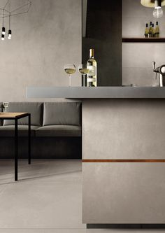 Cheers to the weekend. Brought to you by Azuma by Imola. Tiles For Sale, Kitchen Wall Tiles, Residential Interior Design, Modern Spaces, Living Area, Interior Inspiration, Table, Furniture, Absolutely Stunning