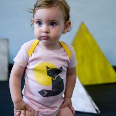 Organic Fox Baby Bodysuit - Pink , Baby Wear - Ettel & Bettel, Wild Dill  - 1