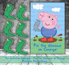 SALE George Pin the Dinosaur on George by TheInvitationBoutiqu