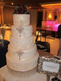 Dark Chocolate Cake With Mocha Buttercream from Denise Smith of @My Daughter's Cakes - NJ Wedding & Specialty Cakes - Bergen County Wedding Cakes, New Jersey