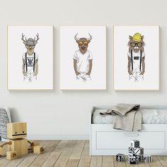 Funny Animal Wall Art, Hipster Animal Print, Funny Nursery Wall Art, Hipster Cat Nursery Prints, Nursery Room, Nursery Wall Art, Hipster Cat, Advertising And Promotion, Selling Design, Print Print, Decoration, Printable Art