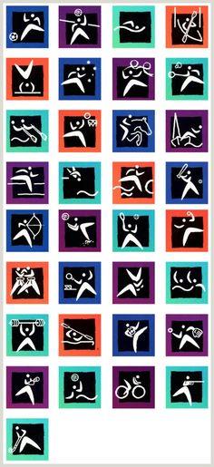 2000-Sydney-Pictograms.jpg 540×1,179 ピクセル  2000年のシドニーオリンピック。アボリジニーのブーメランをモチーフに使っています。