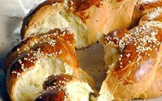 Τσουρέκι πολίτικο με μαστίχα Pastry Recipes, Pizza Dough, Baked Potato, Sweets, Breakfast, Ethnic Recipes, Breads, Greek, Easter