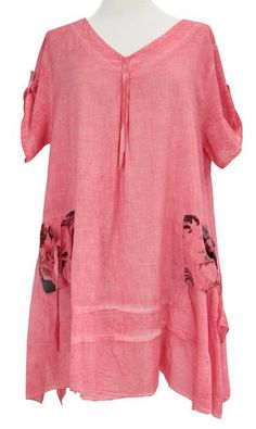 Buy Ladies Womens Lagenlook Quirky Layering Floral Print Scarf Tunic Top  Shirt Cotton One Size Plus