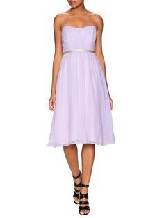 Lupita Silk Gathered Dress by Shoshanna at Gilt