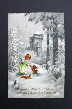 German Xmas Greeting Post Card