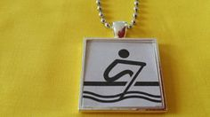 ROWING CREW ROW Jewelry Necklace Pendant by ShadowRidgePendants Rowing Gifts, Rowing Crew, Split Ring, Ball Chain, Dog Tag Necklace, The Row, Custom Design, Great Gifts, Jewelry Necklaces