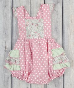 Another great find on #zulily! Pink & Gray Paisley Georgie Bubble Romper - Infant & Toddler #zulilyfinds