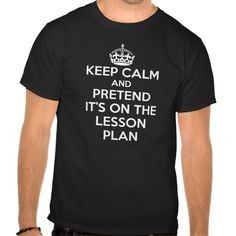 KEEP CALM AND PRETEND IT