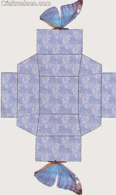 Bellas Cajas con Cierre en forma de Mariposa para Imprimir Gratis.