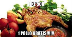 Like 500 en nuestra pag de Facebook, 1 Pollo GRATIS!!! #puertovallarta #vallarta #nuevovallarta #viejovallarta #bucerias #semanasanta #rivieranayarit