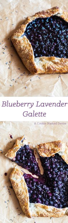A delicious blueberry lavender galette to bring in Spring talk about a wonderful dessert for that special night! Tart Recipes, Sweet Recipes, Baking Recipes, Beaux Desserts, Fun Desserts, Think Food, Love Food, Lavender Recipes, Culinary Lavender