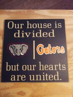 Personalized College Sign Divided House Cowboys & 49ers etc. $30.00, via Etsy.    Cute idea!!