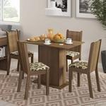 Conjunto Sala De Jantar Mesa E 4 Cadeiras Lexy Madesa 349,90