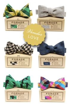Forage bowties for the groomsmen