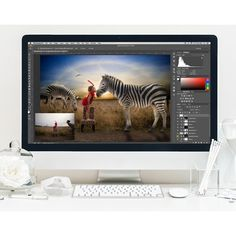 Learn How to Create Magical Composites! The Kissing Zebra – Editing Workshop (SAVE 53%) - Photo Dough
