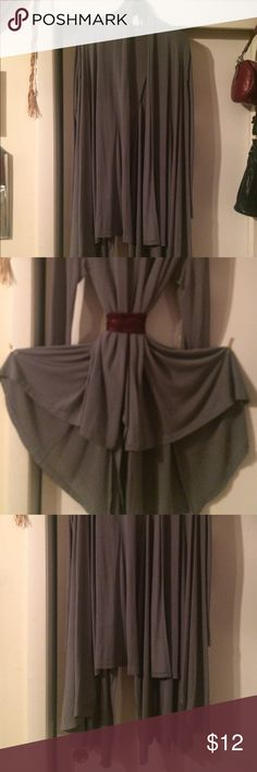 🎈COLUMBUS DAY SALE Asymmetrical Gray Dress Top Size L. No buttons. Wear loose or with belt or pin Tops Blouses