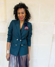 Nancy from FabFourFashion in her green Sumissura blazer Silk Handkerchief, Green Blazer, Double Breasted Blazer, Looking Gorgeous, Custom Made, Suit Jacket, Handkerchiefs, Pocket Squares, Suits