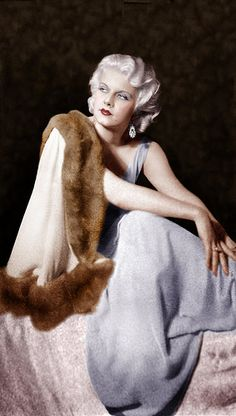 Jean Harlow finger wave hair
