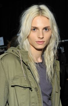 Pin for Later: 18 Times We Envied Andreja Pejić's Beauty 2011, Custo Barcelona New York Fashion Week Fall 2012 Andreja nailed the model-off-duty look, thanks to tousled bed head and minimal makeup.