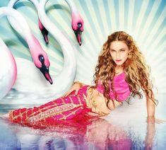 David LaChapelle Mythical Swans: Madonna, New York, Rolling Stone Photo: courtesy Pink Shrimp Fine Art David Lachapelle, Britney Spears, Elizabeth Hurley, Annie Leibovitz, Swans, Rich Girls, Divas, Pin Up, Madonna Photos
