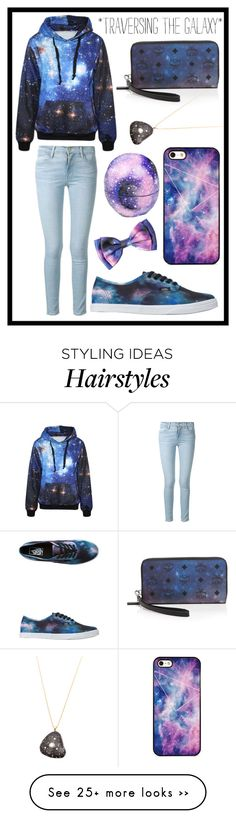 """""""#172 galaxy"""" by xjet1998x on Polyvore featuring Frame Denim, Eos, Vans, MCM, CVC Stones and BlissfulCASE"""