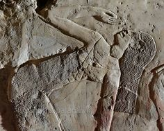 'Dancer in Kheruef's tomb at Luxor.'  This relief detail in the tomb of Kheruef shows a female dancer who performs on the occasion of the ...