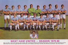 WEST HAM UNITED FOOTBALL TEAM PHOTO 1979-80 SEASON